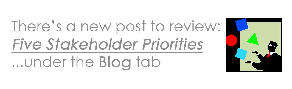 Five Stakeholder Priorities