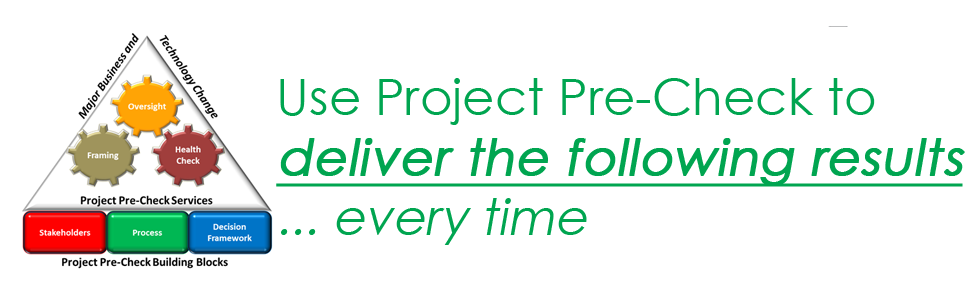 Use Project Pre-Check to Deliver