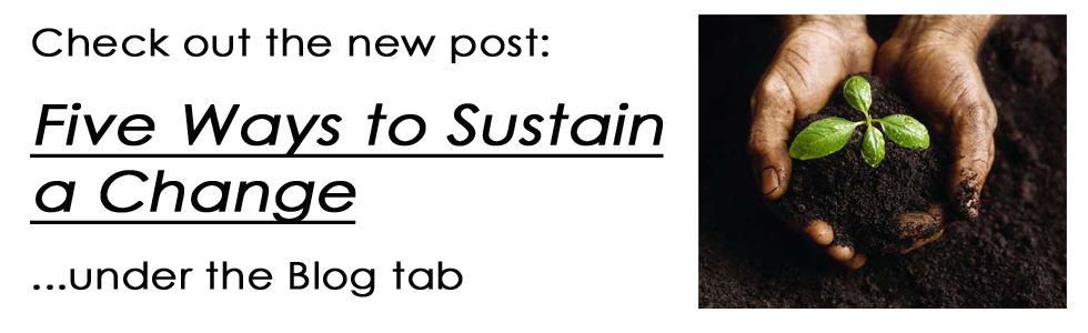 Five Ways to Sustain a Change